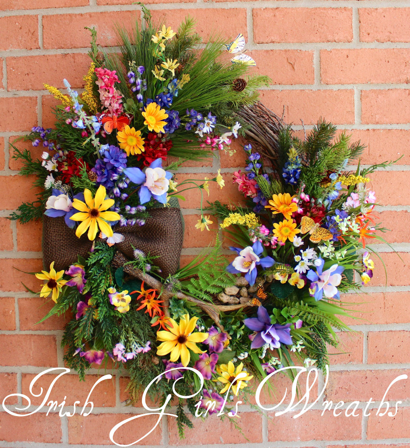 Colorado Mountain Wildflowers Wreath