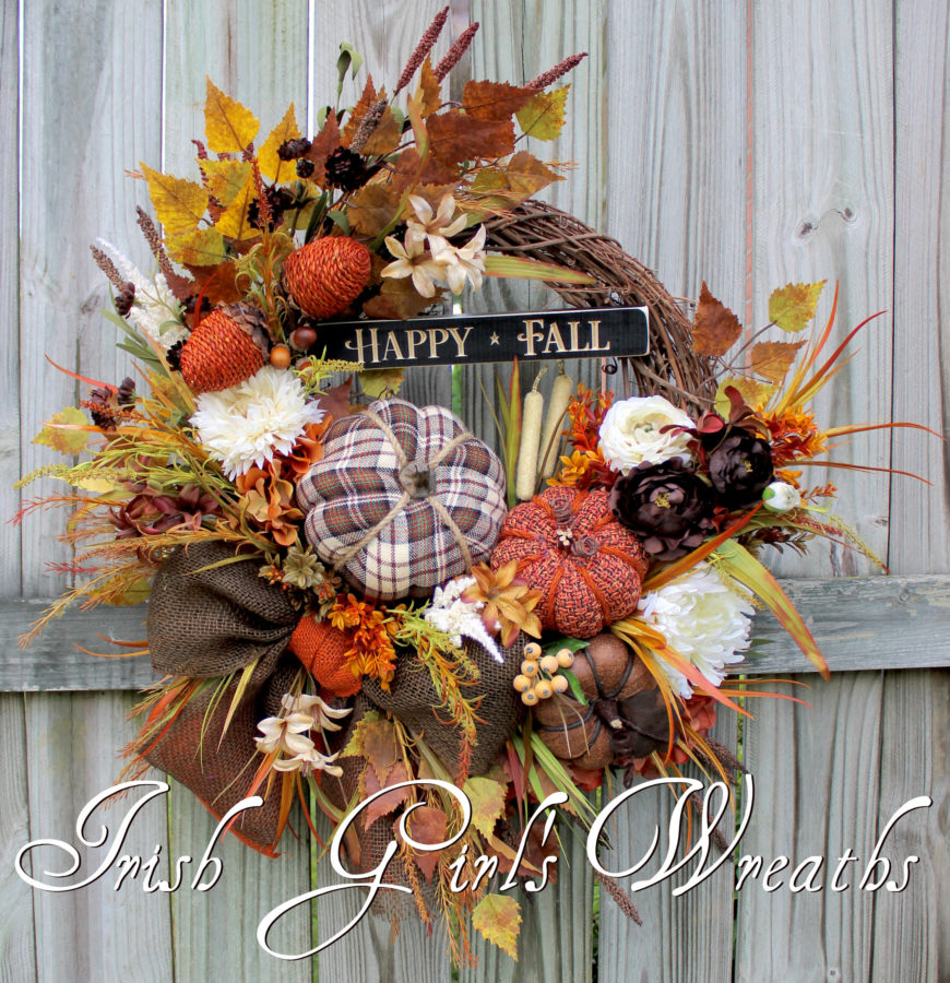 Happy Fall brown rust cream watermarked