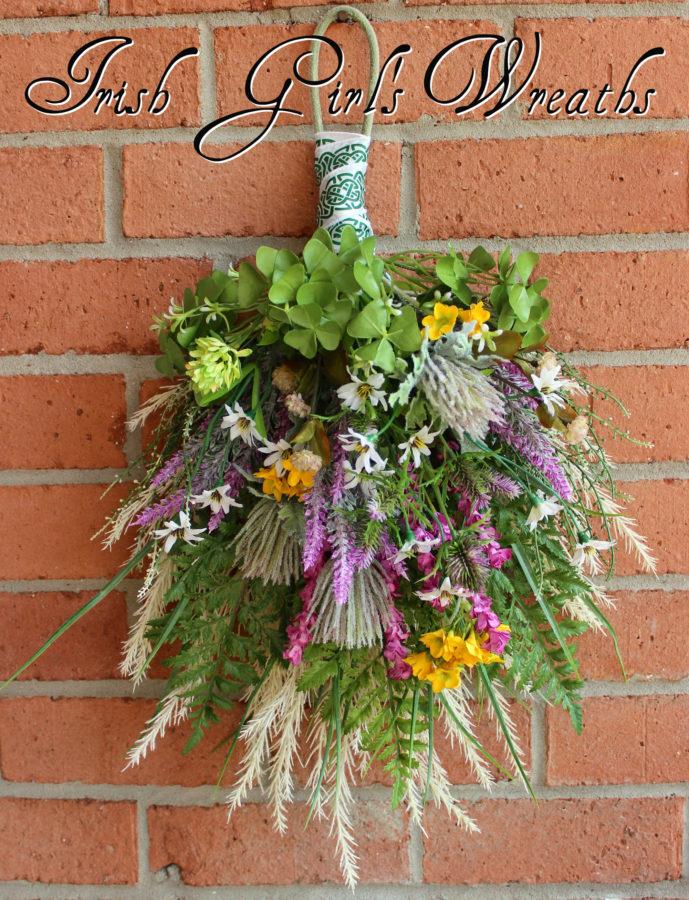 St Patricks Irish Wildflower Floral Swag