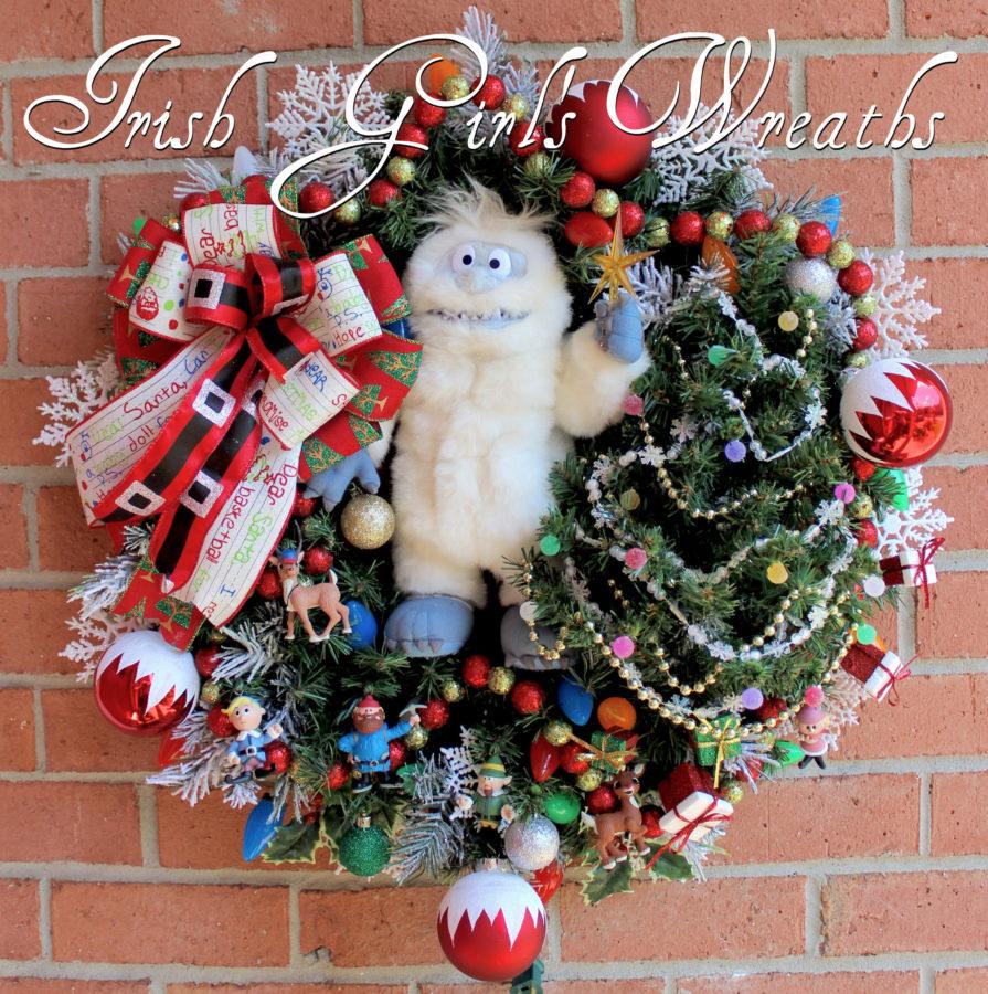 Bumble SnowMonster Rudolph Christmas Wreath