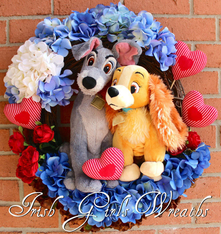 Lady and the Tramp Valentines Wreath, That's Amore'