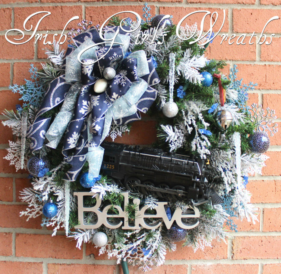 Polar Express Christmas Wreath -2