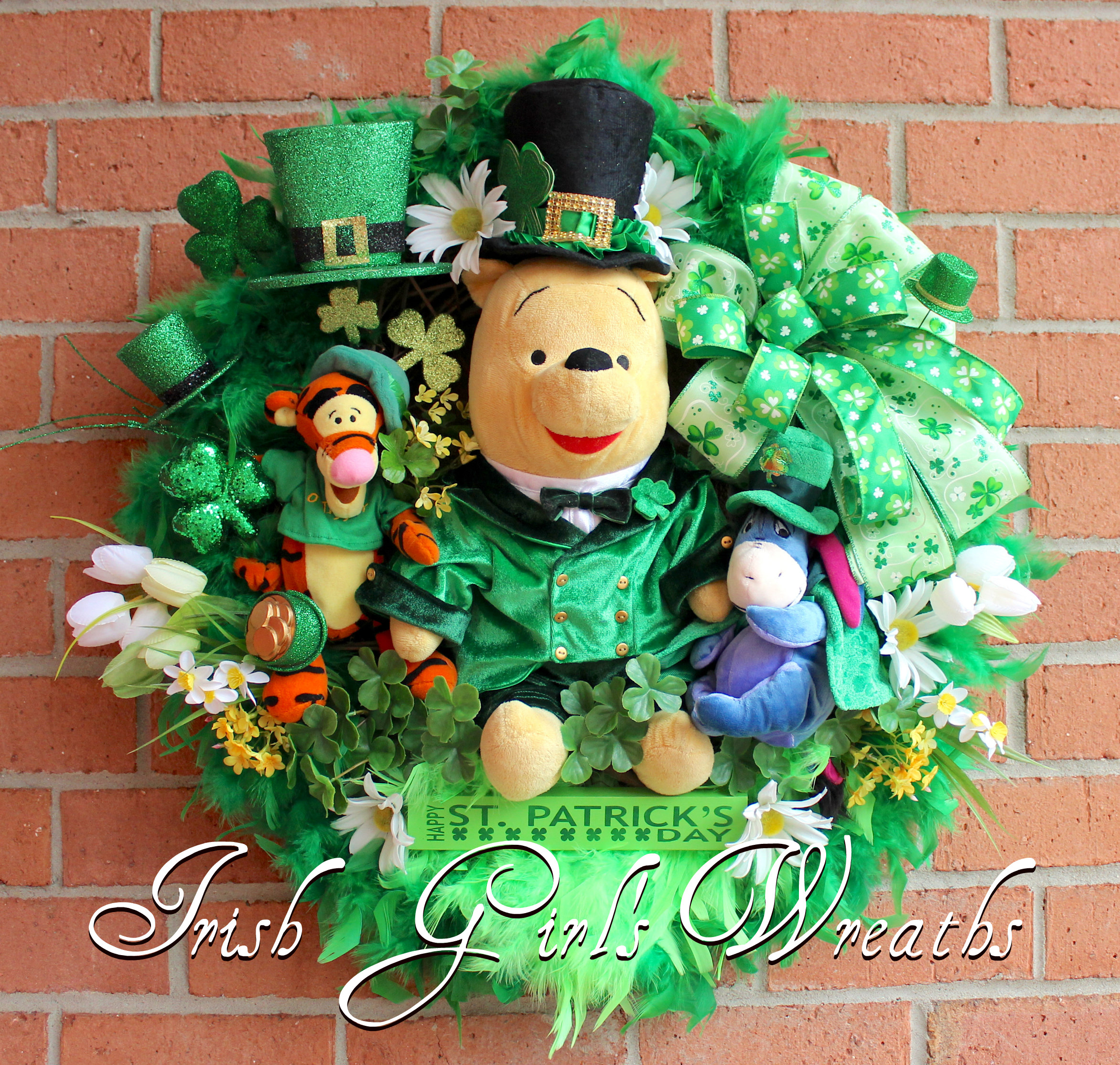 Artist Irish Bear Dressed As A Leprechaun Dolls & Bears