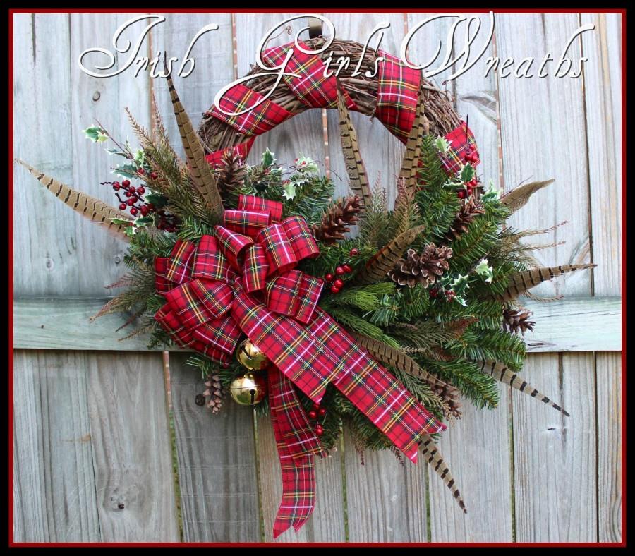 Rustic Scottish Highland Christmas Wreath