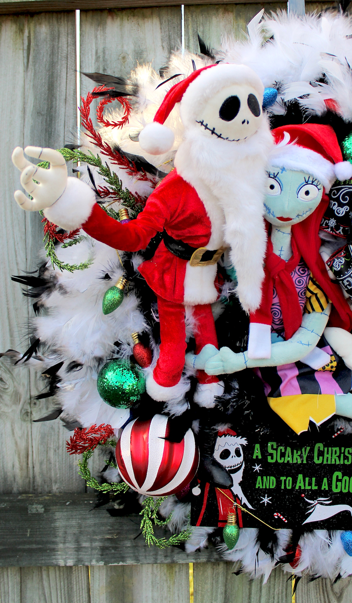 jack skellington here in his sandy claws suit with his true love sally and trusty reindeer ghost dog zero wishing everyone a scary christmas to all and - Jack Skellington Christmas Tree