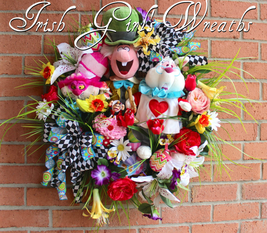 Wonderland Easter and Spring Celebration Wreath