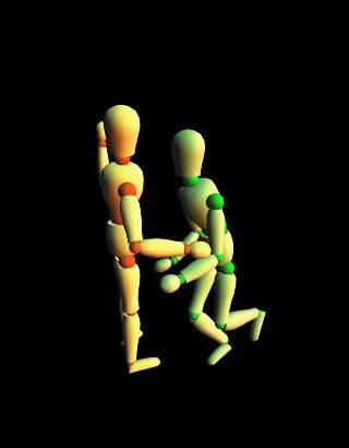 ANIMATION Dancing Pair