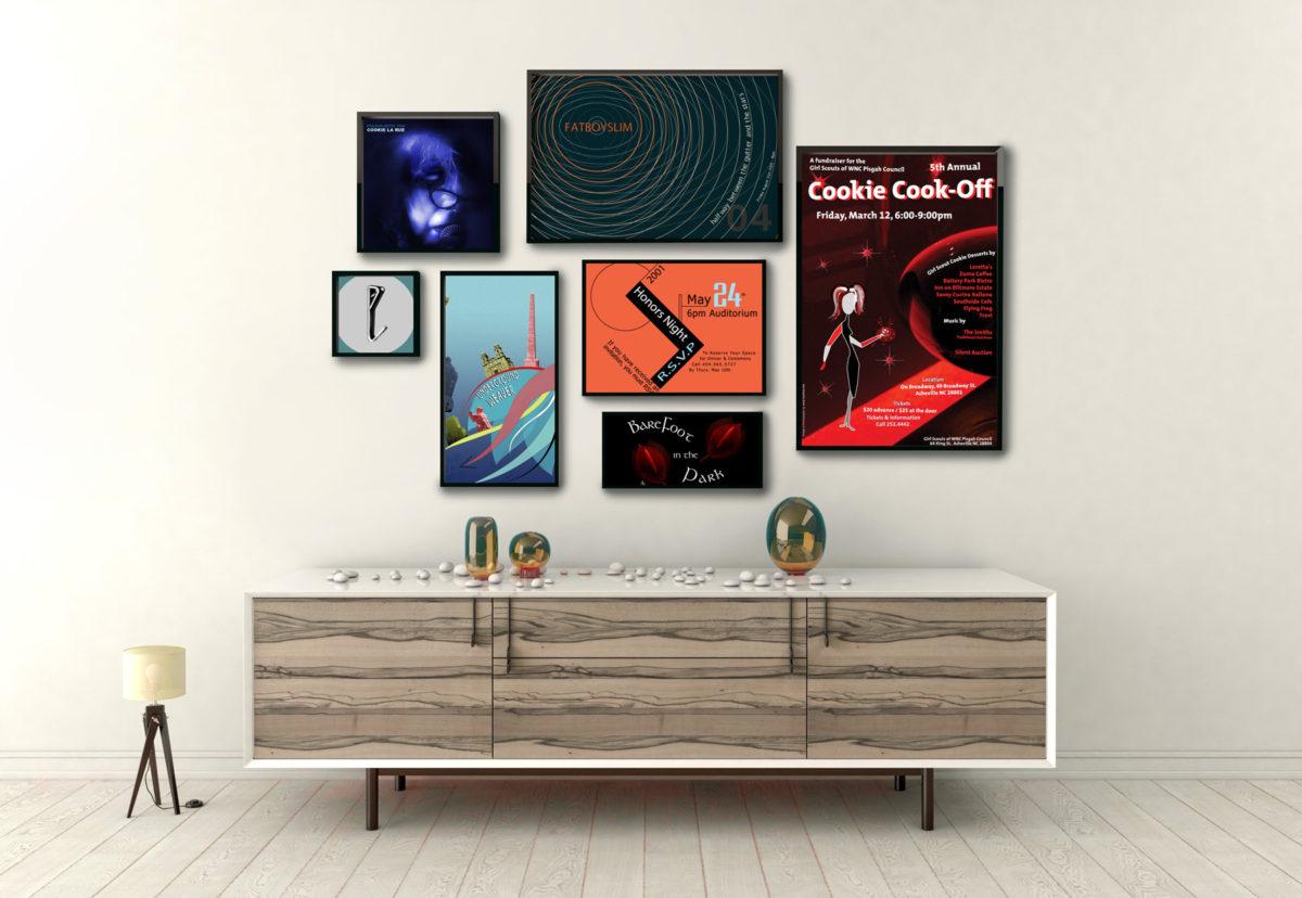 Asheville Poster Design Samples