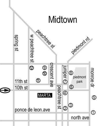 GRAPHIC DESIGN Map Design of Atlanta