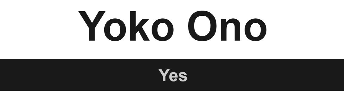 Artist Review Yoko Ono
