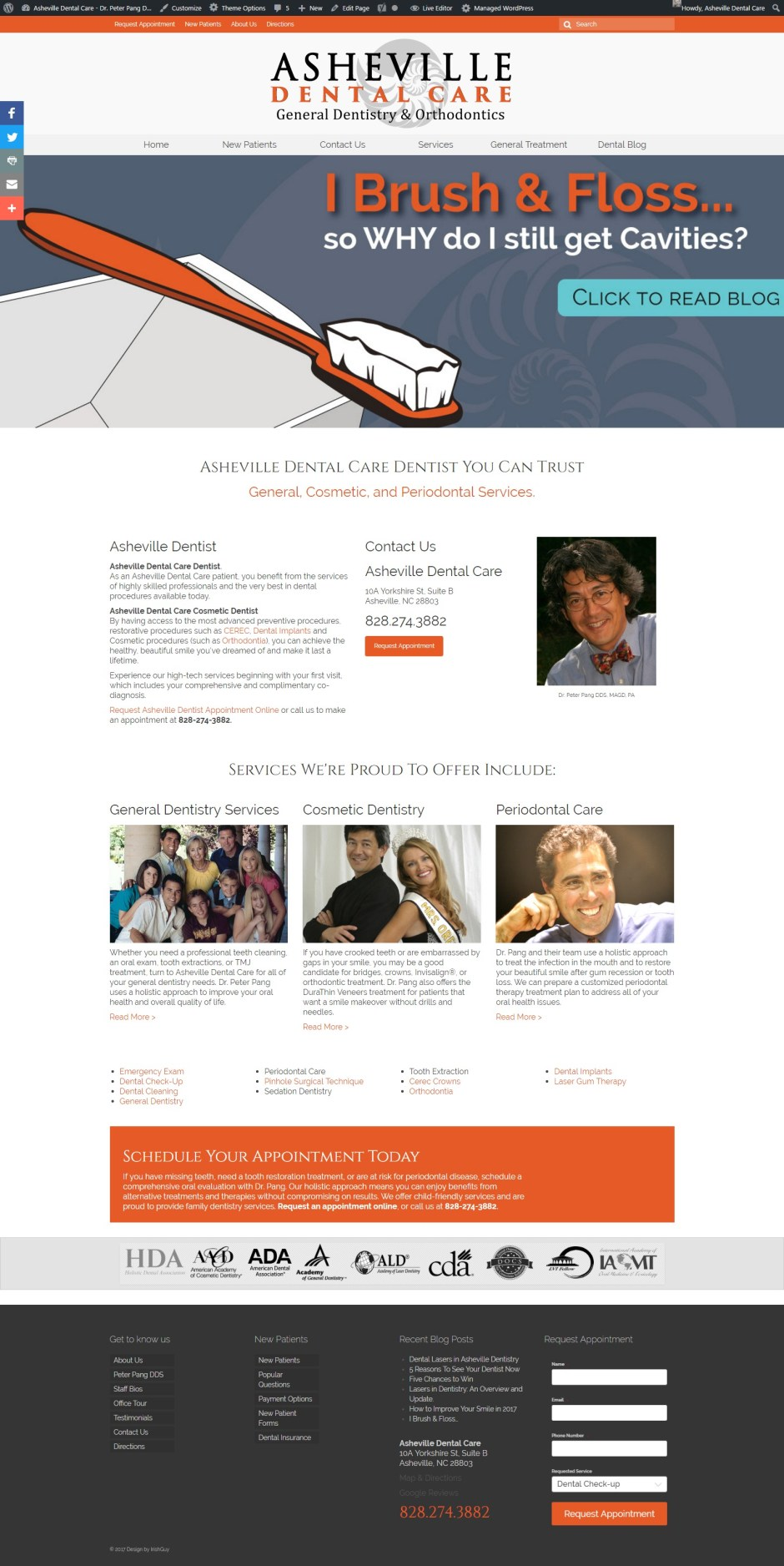 Website Design Asheville Dental Care