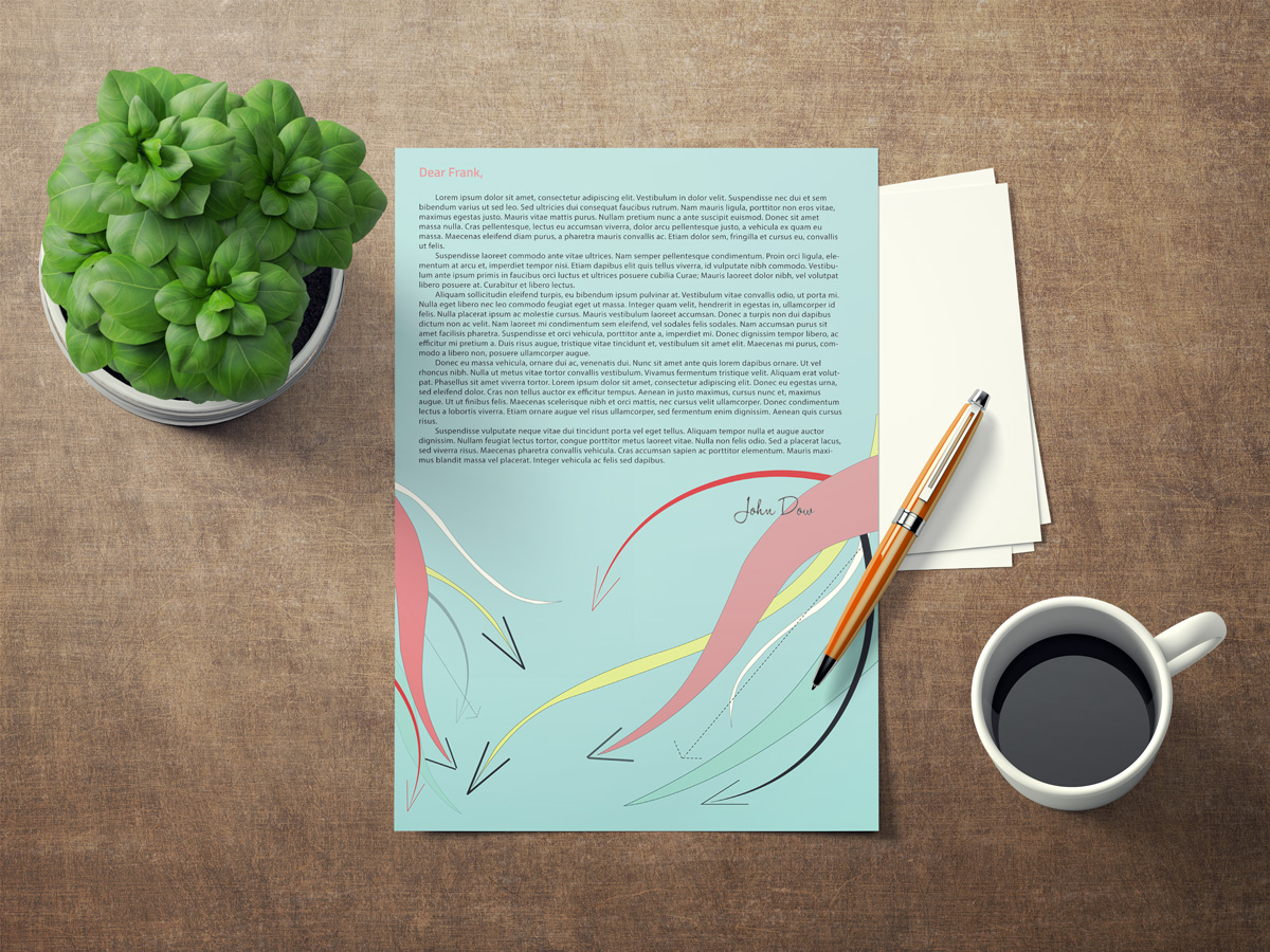 Letterhead design for small Asheville Business