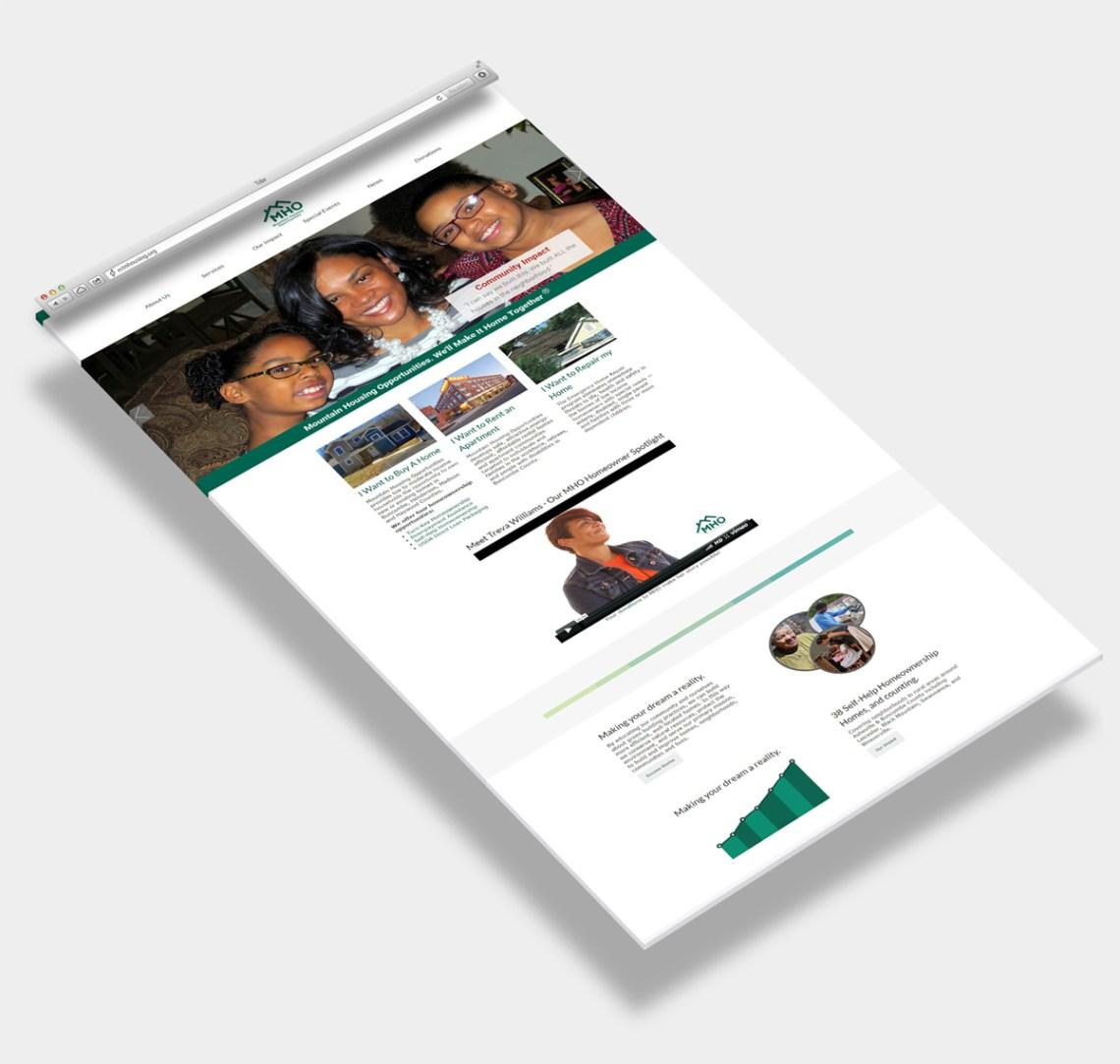 Web Design Sample for Asheville Non-Profit