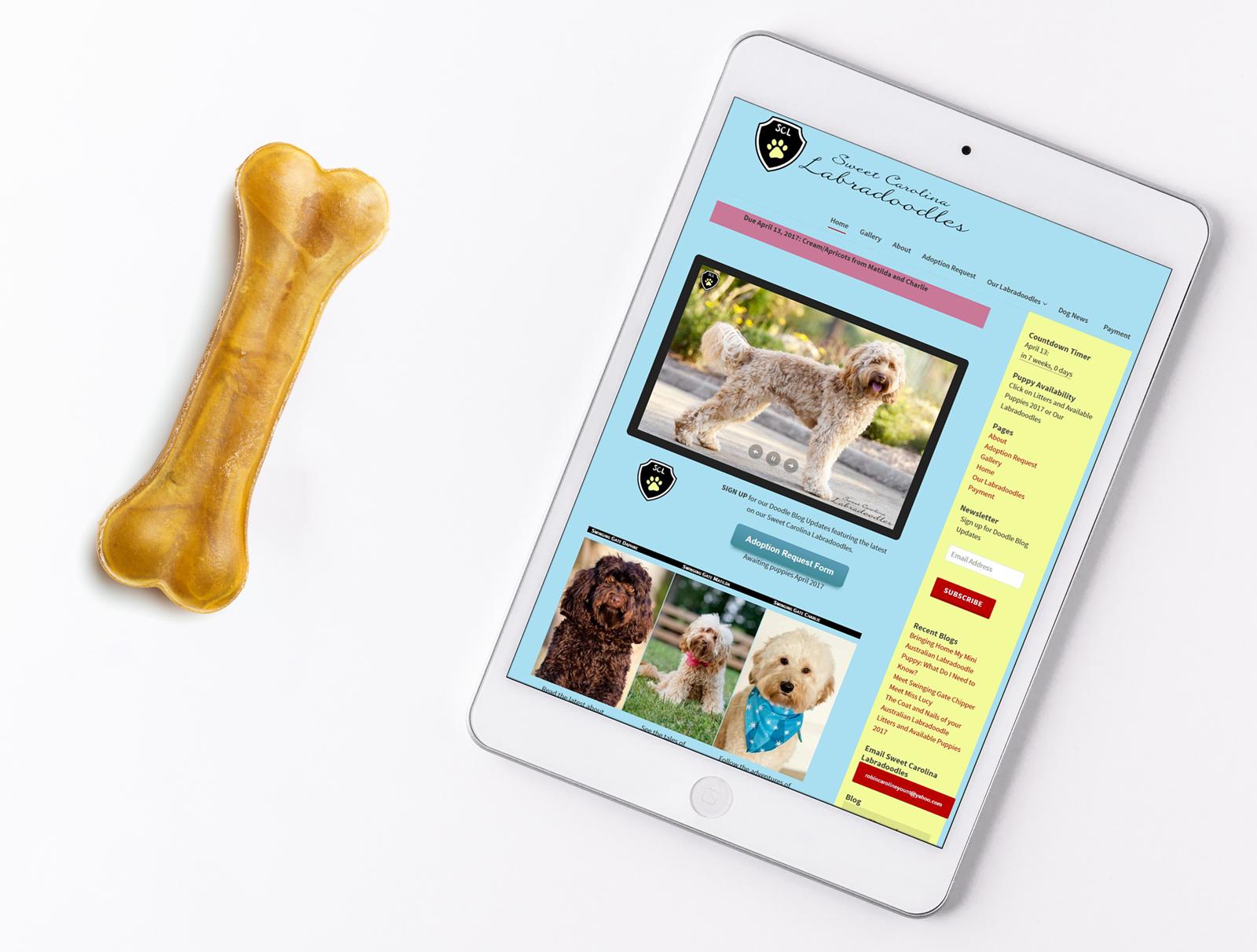 Web Design Sampel Dog Breeder