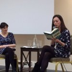 Image of Sinead Gleeson and Lucy Caldwell at the ILS 29 February 2016