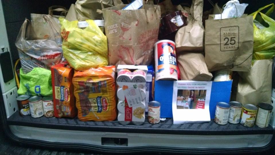 Annual food drive ceili