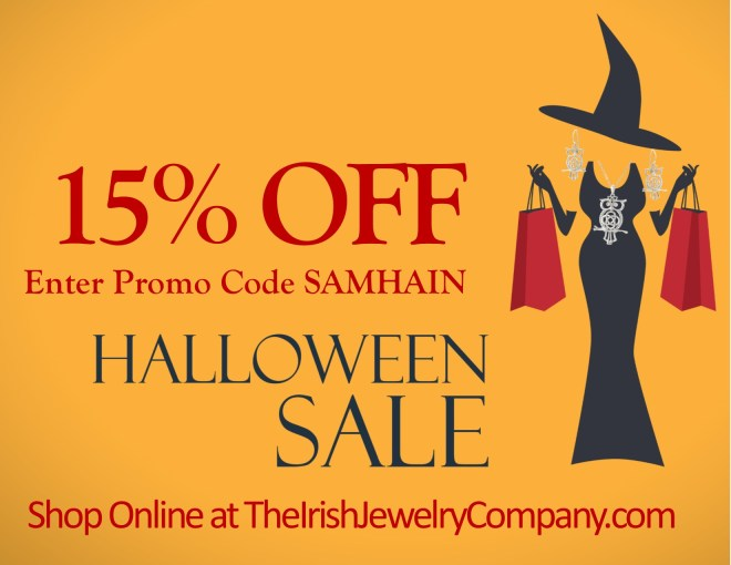irish jewelry comany  halloween sale promotion
