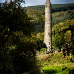 The monastic tower at Glendalough, Co. Wicklow