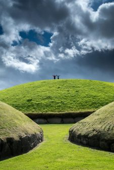 Ancient burial tombs at Knowth