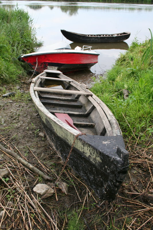 A cot and other boats at Camphire Bridge