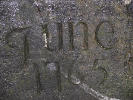 June 1765 (photo courtesy of Michael Slevin)