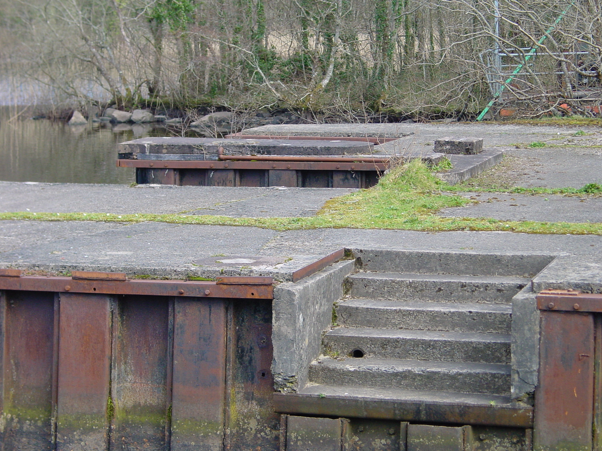 Some details of the flying-boat dock