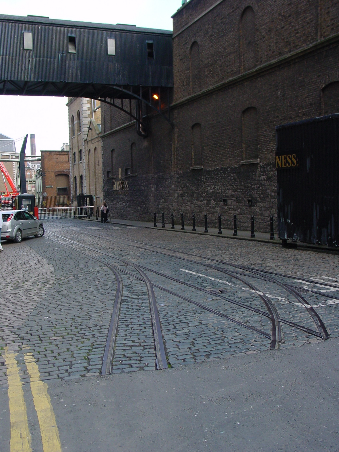 "Tramway 1' 10"" tracks at the entrance to the Guinness Storehouse"