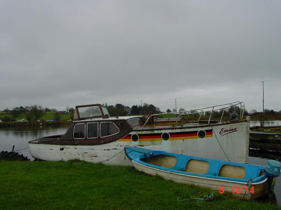 Emina afloat at Portumna on Lough Derg