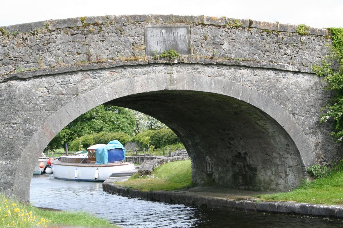 Christine through the bridge at Shannon Harbour