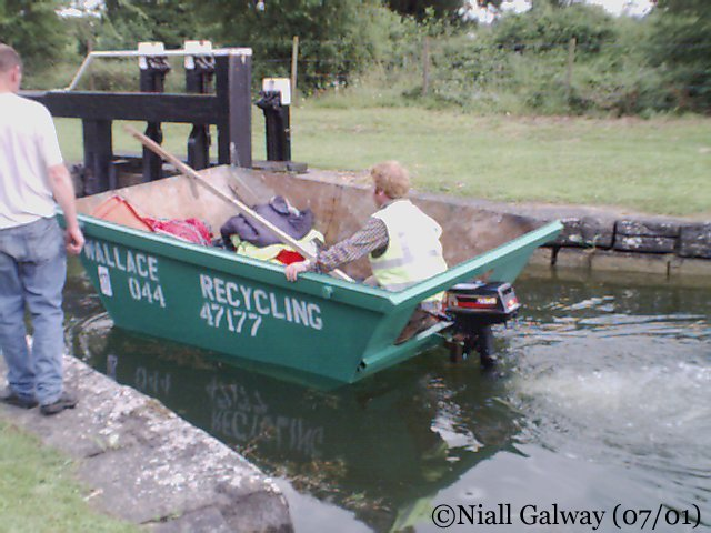 ... under its recycling-conscious skipper