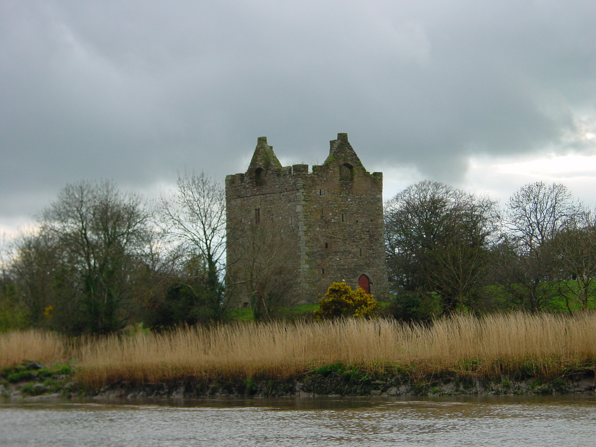 Annaghs Castle on the west bank