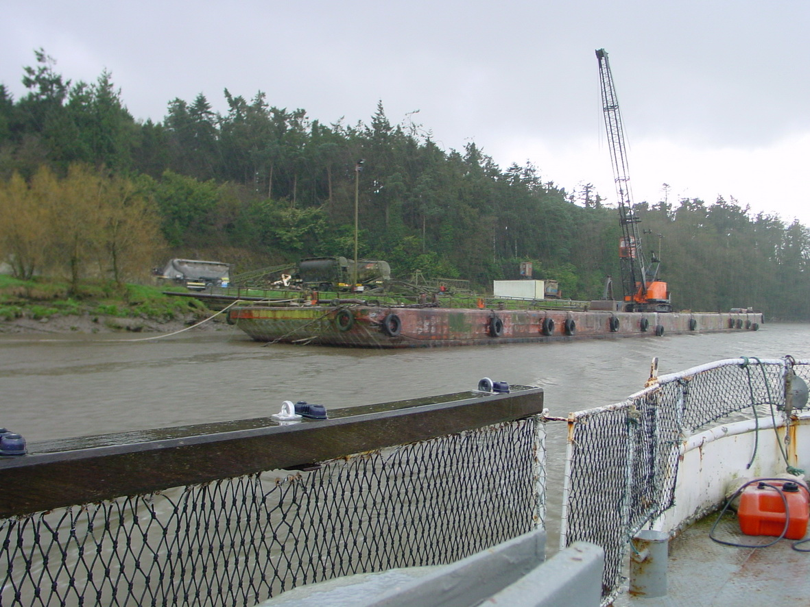Large pontoon on the east bank below New Ross