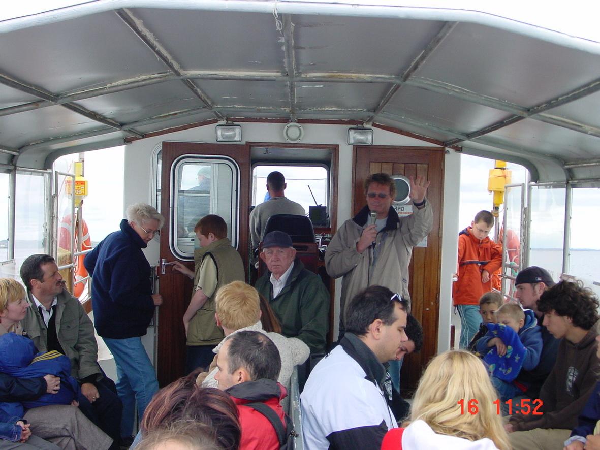 Simon Berrow talking to the passengers