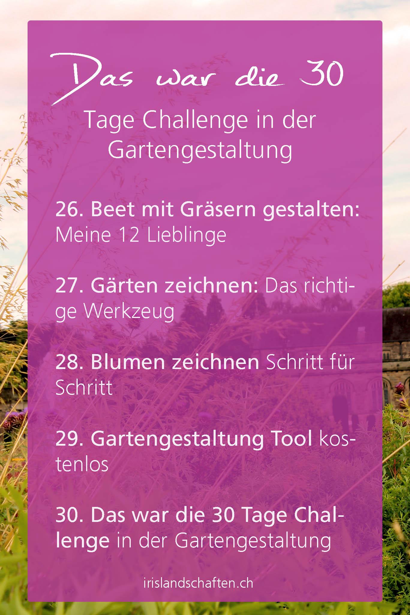 30 Tage Challenge in der Gartengestaltung
