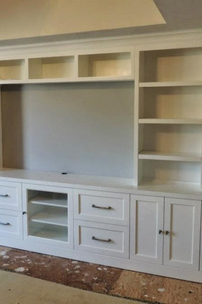DIY Bookshelf/Entertainment Center Planning