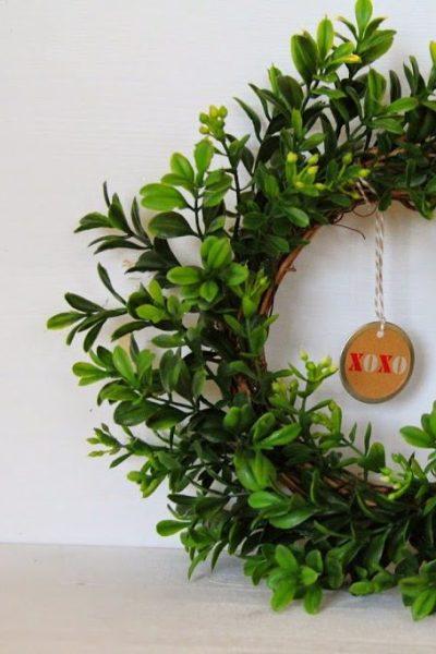 Valentine's Day Craft-Boxwood Wreaths