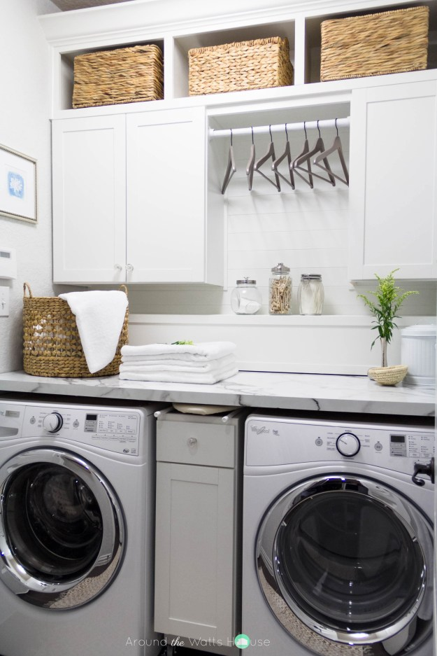 Laundry Room Containers-One Room Challenge-Fall 2015-Around the Watts House