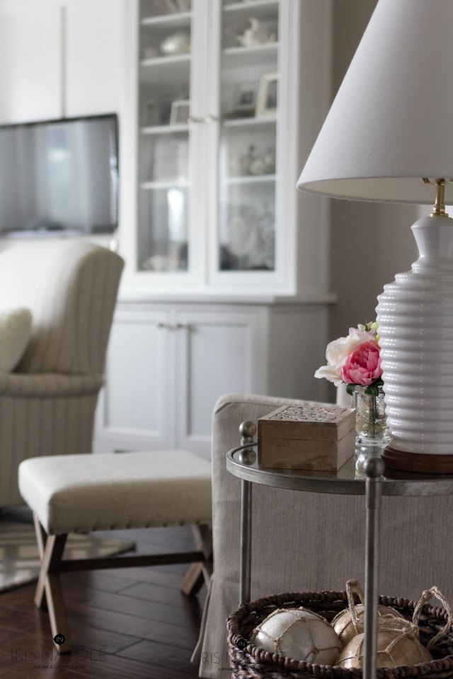 Sidetable-Decor-Lamps Plus-HomeGoods-Target-Neutral-Living Room-Makeover-New Year, New Room Challenge-IrisNacole.com