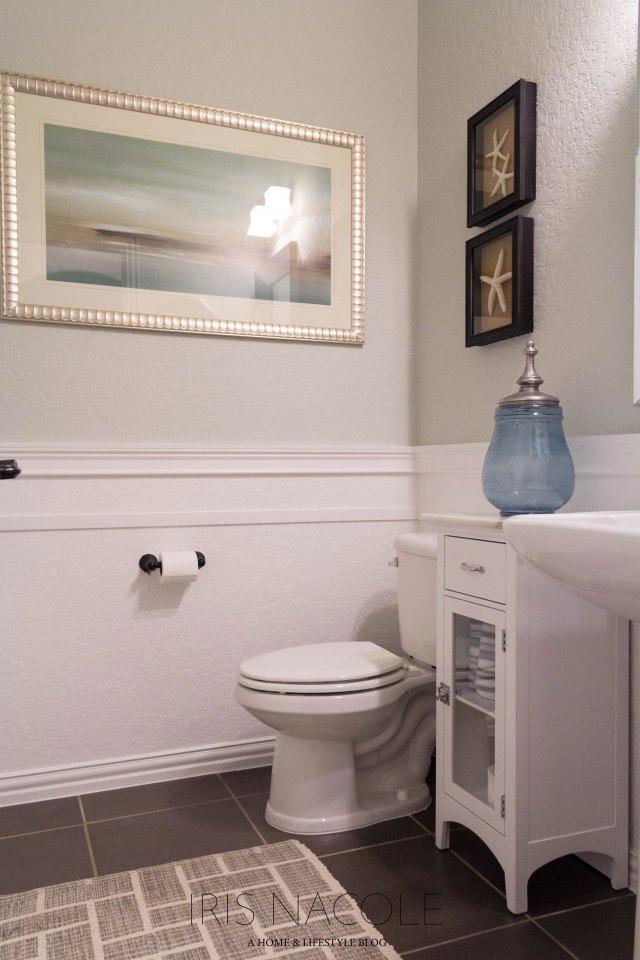 Powder Room Coastal Decor IrisNacole.com