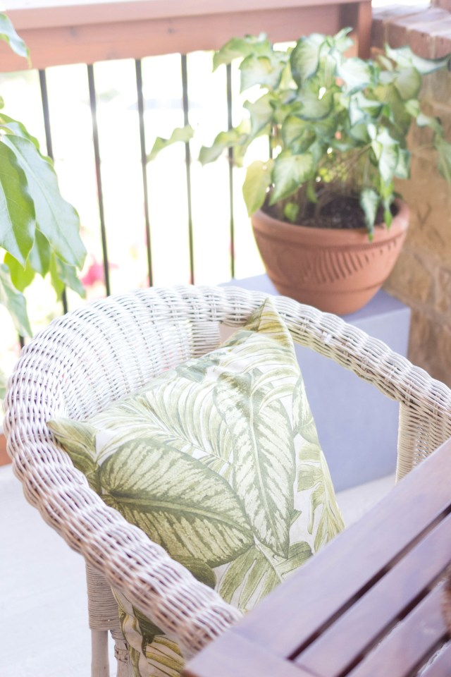 Outdoor Makeover, Tropical Oasis at Home, Balcony Styling by Iris Nacole of IrisNacole.com