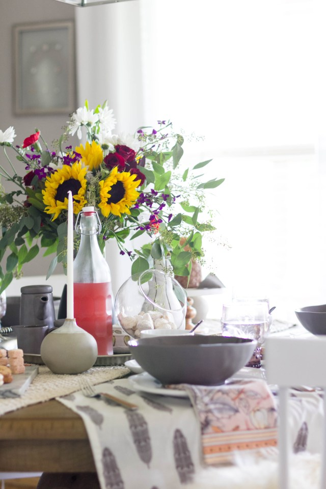 Summer to Fall Bohemian Tablescape with Cost Plus World Market