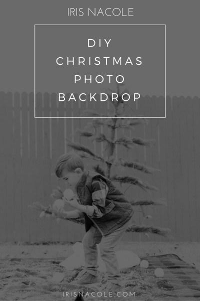 DIY Christmas Photo Backdrop Idea