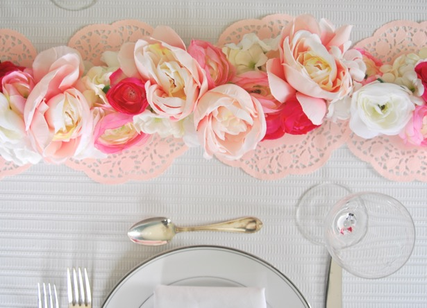 Pender & Peony-valentines-day-floral-table-runner