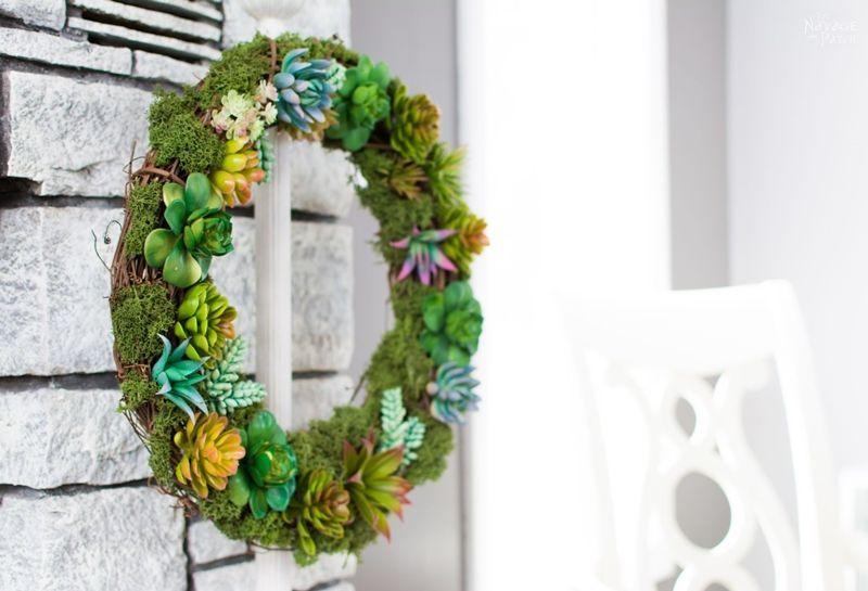 The Navage Patch-Faux Succulent Wreath Tutorial