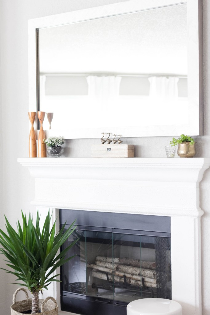 Spring Mantel Styling-Vintage Garden-IrisNacole.com