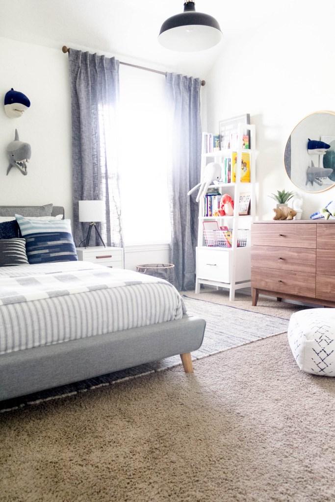 Modern Beach-Big Boy Bedroom-Makeover-Home Makeover-Kids Bedroom Inspiration-IrisNacole.com