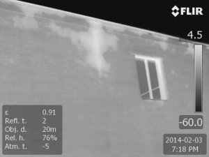 Heat loss through brick exterior