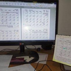 הקובץ במחשב, המיועד להחלפת החודשים מהשנה החולפת, על גבי אותו לוח שנה.