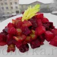 Горячий красный салат