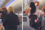 Kobieta zaatakowała swojego partnera w samolocie za… spojrzenie na inną